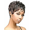 cheap Synthetic Capless Wigs-Synthetic Wig Black Black Wig Black