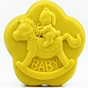 preiswerte Backformen-Trojaner Kaninchen Baby förmigen Fondantkuchen Schokoladensilikonform Kuchendekorationswerkzeuge, l8.6cm * w8.6cm * h3.1cm