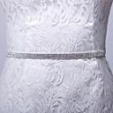 voordelige Sjerpen voor feesten-Satijn/tule Satiini Bruiloft Feest / Uitgaan Dagelijks gebruik Sjerp With Strass Dames Sjerpen