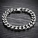 preiswerte Halsketten-Herrn Ketten- & Glieder-Armbänder - Titanstahl Armbänder A / B / C Für Weihnachts Geschenke Hochzeit Party