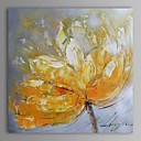 رخيصةأون رسومات زيتية-هانغ رسمت النفط الطلاء رسمت باليد - الأزهار / النباتية معاصر كنفا