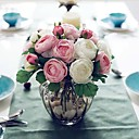 cheap Artificial Flower-Artificial Flowers 1 Branch Simple Style Roses Tabletop Flower