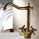 cheap Faucet Sets-Kitchen faucet - Traditional Antique Brass Bar / ­Prep Deck Mounted