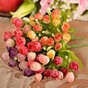baratos Flor artificiali-Flores artificiais 1 Ramo Estilo simples Rosas Flor de Mesa