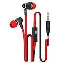 baratos Fones de Ouvido-No ouvido Com Fio Fones Plástico Celular Fone de ouvido Com Microfone Fone de ouvido