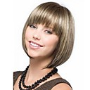 cheap Synthetic Capless Wigs-Synthetic Wig Blonde Bob Haircut / With Bangs With Bangs Blonde Wig Women's Short