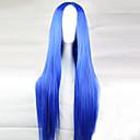 abordables Pelucas para Disfraz-Pelucas sintéticas Mujer Recto Azul Corte asimétrico Pelo sintético 28 pulgada Entradas Naturales Azul Peluca Larga Sin Tapa Azul Claro