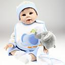 preiswerte Puppen-Lebensechte Puppe Baby 22 Zoll Silikon Vinyl - Neugeborenes lebensecht Handgemacht Non Toxic Kinder Mädchen Spielzeuge Geschenk