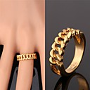 cheap Rings-Women's Band Ring - Gold Plated, Alloy Fashion For Wedding Party Daily