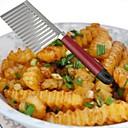 abordables Herramientas Para Vegetales y Verduras-1pc Herramientas de cocina Acero inoxidable Cocina creativa Gadget Cutter & Slicer para vegetal
