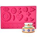 olcso Sütőeszközök-Négy-c gumpaste penész tortát tervezési penész, tortát kellékek fondant mat cukorpasztás mat tortát eszközök szín rózsaszín