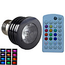 cheap LED Bulbs-E14 GU10 B22 E26/E27 LED Spotlight MR16 1 High Power LED 500 lm RGB 6500~7000 K Dimmable Sound-Activated Remote-Controlled Decorative AC