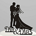 cheap Cake Toppers-Cake Topper Garden Theme Classic Couple Acrylic Wedding Anniversary Bridal Shower with 1 OPP