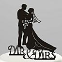 preiswerte Tortenfiguren & Dekoration-Tortenfiguren & Dekoration Garten Klassisches Paar Acryl Hochzeit Jahrestag Brautparty mit 1 OPP