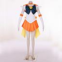 billiga Animekostymer-Inspirerad av Sailor Moon Sailor Uranus Video Spel Cosplay-kostymer cosplay Suits Lappverk Klänning Huvudbonad Handskar Kostymer