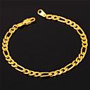 preiswerte Modische Halsketten-Damen Figaro Kette Ketten- & Glieder-Armbänder Armband - Edelstahl, vergoldet Modisch Armbänder Golden Für Weihnachts Geschenke Hochzeit Party