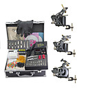 billige professionel tatovering kits-Tattoo Machine Professionel Tattoo Kit 3 x stål tatoveringsmaskine til optegning og skygge Høj kvalitet Mini strømforsyning 2 x jerngreb
