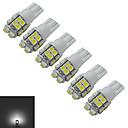 cheap LED Bulbs-6pcs 85lm T10 Decoration Light 20 LED Beads SMD 3528 Cold White 12V