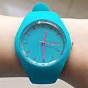 baratos Relógios da Moda-Mulheres Relógio de Pulso Venda imperdível Silicone Banda Amuleto / Casual / Fashion Preta / Branco / Azul / Um ano / Tianqiu 377