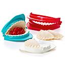 cheap Kitchen Tools-Set of 3 Plastic Dough Press Mold Dumpling Maker Kitchen Tool Gadget