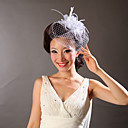 cheap Party Headpieces-Tulle Feather Fascinators Flowers 1 Wedding Special Occasion Headpiece