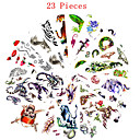 cheap Tattoo Stickers-23 Non Toxic Pattern Waterproof Animal Series Flower Series Others Tattoo Stickers