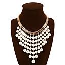 abordables Collier Perle-Colliers Fantaisie Femme Perle Franges Européen Style Simple Mode Écran couleur Colliers Tendance Bijoux pour Soirée