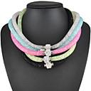 preiswerte Modische Halsketten-Damen Kristall Sternenstaub Statement Ketten - Strass Klassisch Hellblau, Dunkelrosa, Leicht Grün Modische Halsketten Für