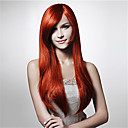 cheap Bakeware-Synthetic Wig Straight / Water Wave Asymmetrical Haircut Synthetic Hair Natural Hairline Red Wig Women's Long Capless