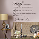 cheap Wall Stickers-Words & Quotes Wall Stickers Words & Quotes Wall Stickers Decorative Wall Stickers, Vinyl Home Decoration Wall Decal Wall Decoration
