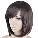 cheap Synthetic Capless Wigs-Synthetic Wig Straight Style Bob Capless Wig Brown Brown Synthetic Hair Women's Side Part Brown Wig Short hairjoy Halloween Wig