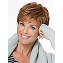 رخيصةأون باروكات كابلس شعر طبيعي-الطبيعي رقيق بلا غطاء داخلي منفصل جودة عالية مائج القصير أحادية كبار الشعر البشري المستعار اثني عشر الألوان للاختيار
