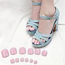 cheap Fishing Lures & Flies-70pcs pink toe false acrylic nail art tips