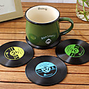 cheap Dinnerware-Retro Vintage Record Vinyl Coaster Bar Drinks Cup Mat Heat Resistant Placemat