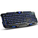 baratos Mouses-Com Fio backlight multi cor 114 pcs Teclado de jogos Programável / Retroiluminado USB Port alimentado