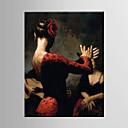 olcso Süllyesztett-Hang festett olajfestmény Kézzel festett - Emberek Európai stílus Modern Vászon