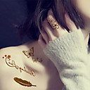 cheap Temporary Tattoos-15PCS Gold And Silver  Tattoo Sticker