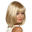 cheap Synthetic Capless Wigs-Synthetic Wig Straight Bob Haircut / With Bangs Synthetic Hair Side Part Wig Women's Short Capless