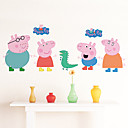 abordables Adhesivos de Pared-Animales Caricatura Pegatinas de pared Calcomanías de Aviones para Pared Calcomanías Decorativas de Pared Calcomanías Para Medir la