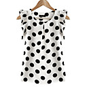 cheap Travel Health-Women's Plus Size Butterfly Sleeves Blouse - Polka Dot Ruffle / Summer / Ruffles and Frills