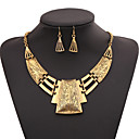 cheap Necklaces-Women's Geometric Jewelry Set / Statement Necklace - Gold Plated Fashion Gold, Silver Necklace For Party, Special Occasion, Birthday