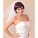 Χαμηλού Κόστους Διακοσμητικά Γάμου-Τρι-επίπεδο Μύτη Μολυβιού Πέπλα Γάμου Πέπλα ως τον αγκώνα με 31,5 ίντσες (80εκ) Τούλι / Κλασσικό