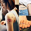 hesapli dövme çıkartma-15 pcs Dövme Etiketleri geçici Dövme Hayvan Serileri / Çiçek Serisi Non Toxic body Art / Temalı
