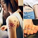 preiswerte Tattoo-Aufkleber-15 pcs Tattoo Aufkleber Temporary Tattoos Tier Serie / Blumen Serie Non Toxic Körperkunst / Muster