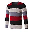 זול HDMI-אדום / ירוק / כחול כותנה, סוודר רגיל שרוול ארוך פסים יום יומי\קז'ואל / עבודה / מידות גדולות בגדי ריקוד גברים
