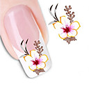 cheap Nail Salon-1 pcs 3D Nail Stickers Water Transfer Sticker nail art Manicure Pedicure Flower / Abstract / Fashion Daily