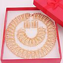 Χαμηλού Κόστους Μοδάτο Βραχιόλι-Κοσμήματα-Κολιέ / Cercei / Δακτυλίδια(Κράμα / Στρας)Γάμου / Πάρτι / Καθημερινά Δώρα Γάμου