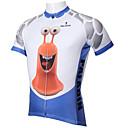 ieftine Jerseru Cycling-ILPALADINO Bărbați Manșon scurt Jerseu Cycling - Albastru / Alb Desene Animate / Animal Bicicletă Jerseu, Uscare rapidă, Rezistent la