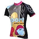 povoljno Party pokrivala za glavu-ILPALADINO Žene Kratkih rukava Biciklistička majica - Crn / Duga Crtani film Bicikl Biciklistička majica, Quick dry, Ultraviolet