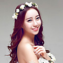 cheap Party Headpieces-Resin / Fabric / Polyester Wreaths with 1 Wedding / Special Occasion / Outdoor Headpiece